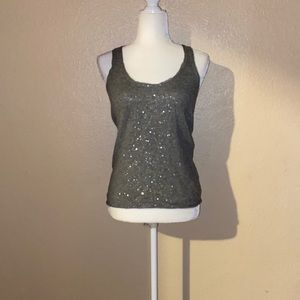 Gray JCrew Lambs Wool and Cashmere Tank Top